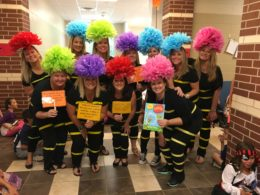 Snyder third grade teachers had fun during the Storybook Parade.