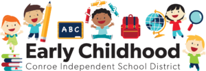 Early Childhood logo with kids jumping in the air.